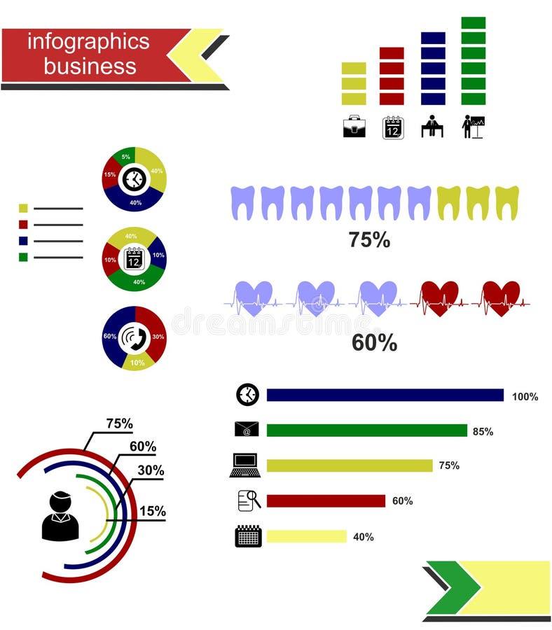 Negocio de Infographics libre illustration