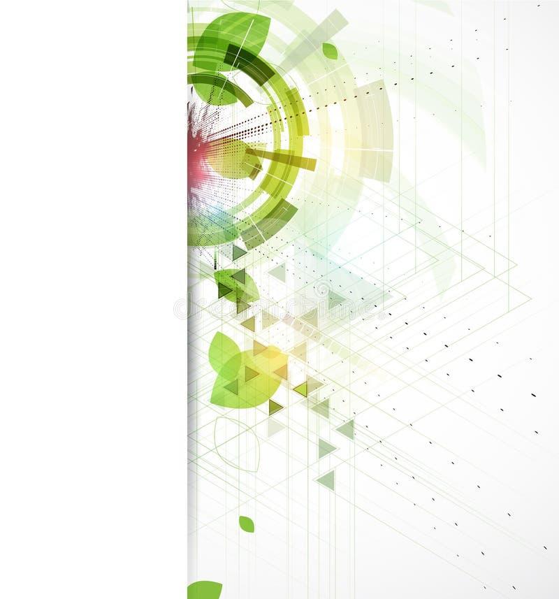 Negocio de la ecología del triángulo y backgrou verdes abstractos de la tecnología stock de ilustración