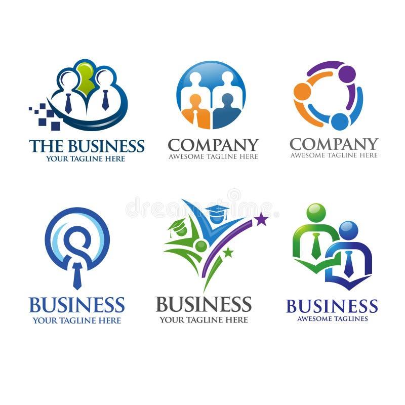 Negocio de la gente y logotipo de la dirección libre illustration