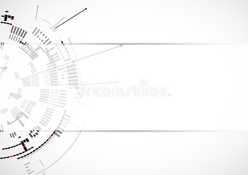 Negocio de la informática de Internet futurista de la ciencia alto ilustración del vector