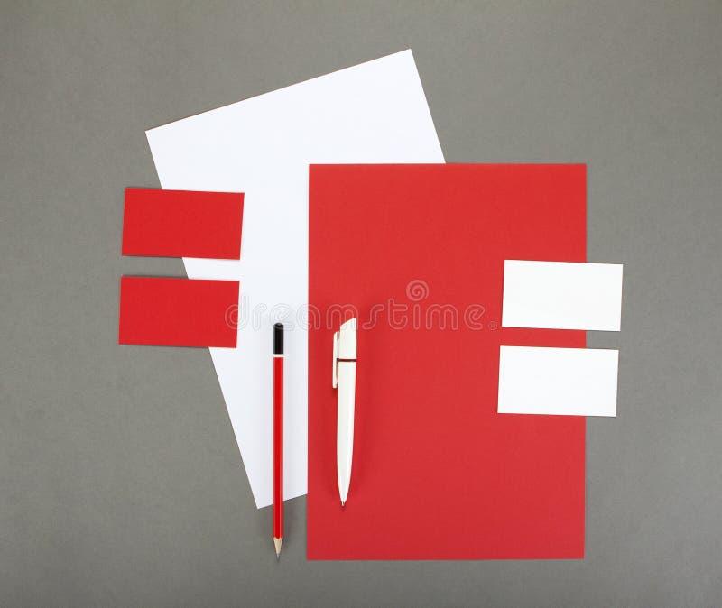 Negocio de la plantilla para calificar Diseño de la plantilla de la identidad corporativa Efectos de escritorio del negocio fotografía de archivo