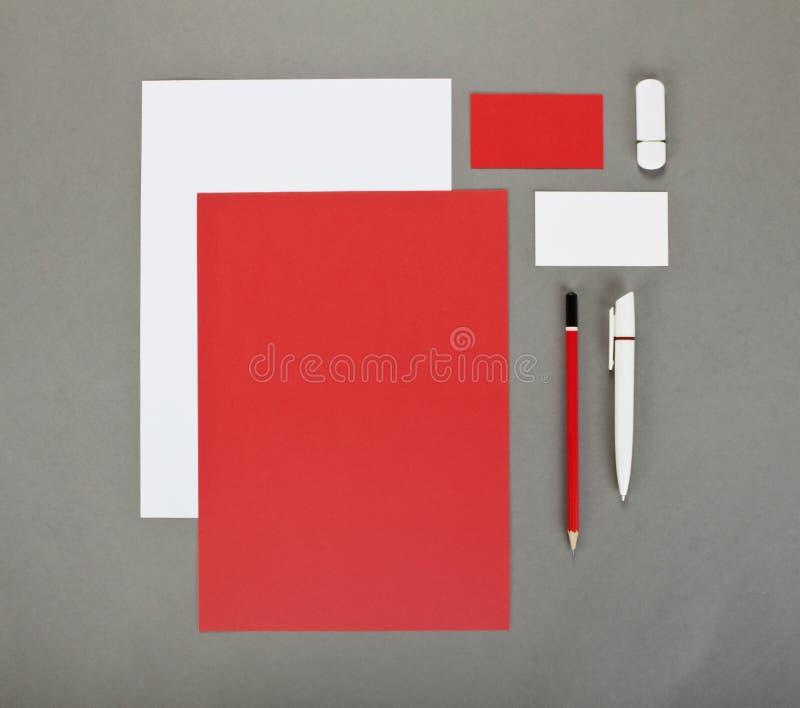 Negocio de la plantilla para calificar Diseño de la plantilla de la identidad corporativa Efectos de escritorio del negocio fotografía de archivo libre de regalías