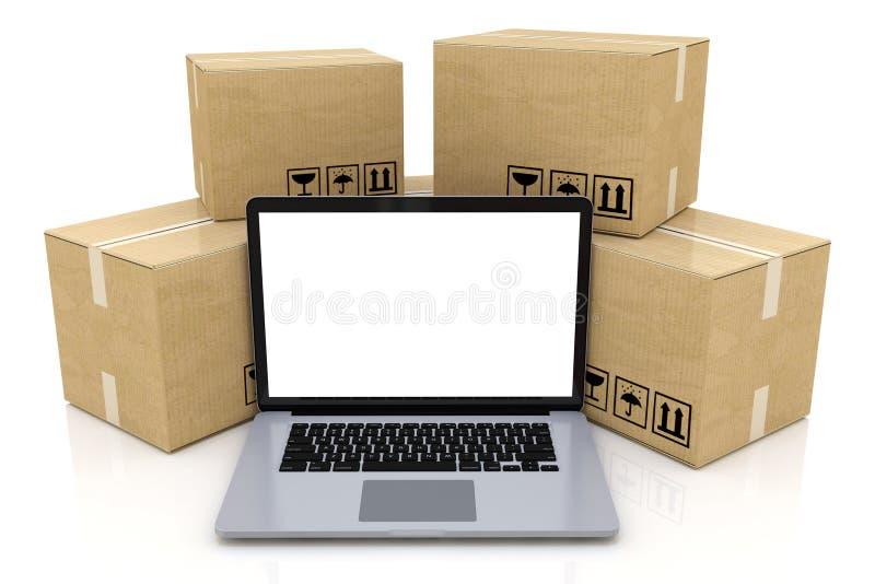 Negocio de la tecnología del envío, de la entrega y de la logística industrial ilustración del vector