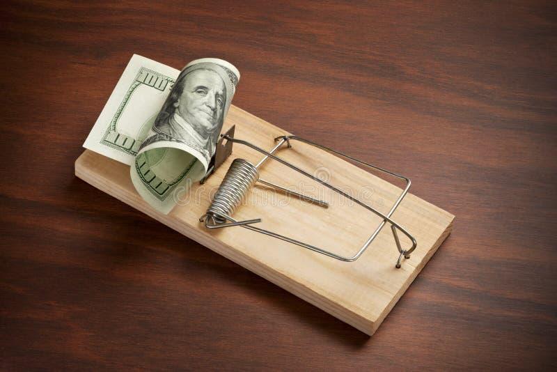 Negocio de la trampa del dinero foto de archivo