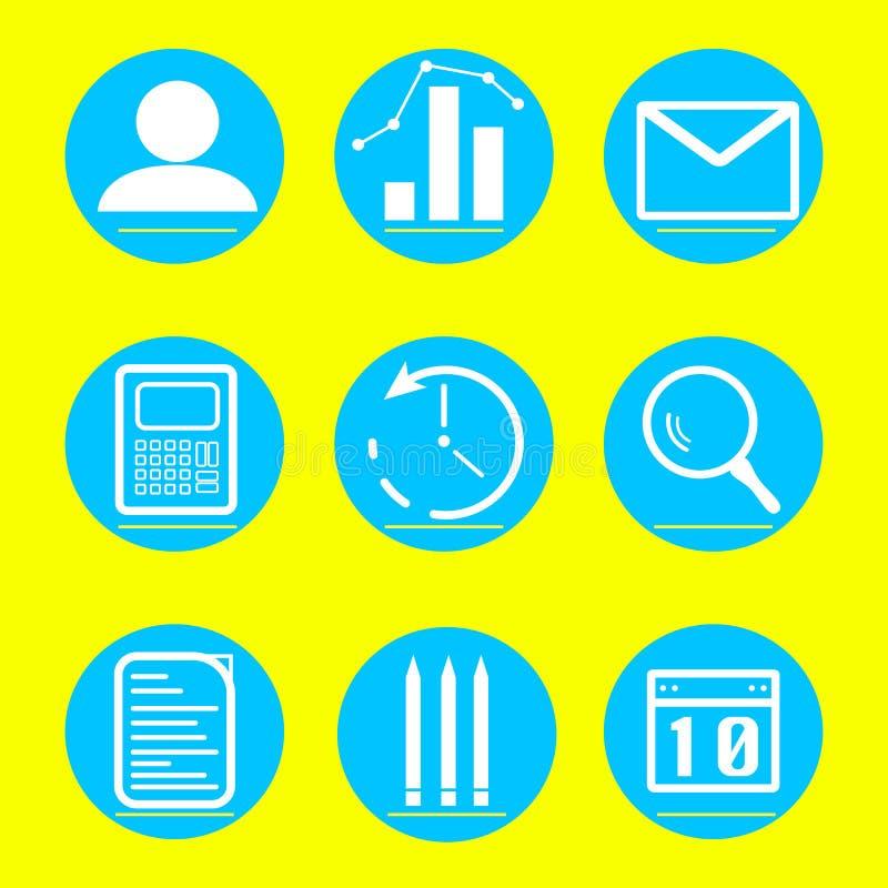 Negocio de los iconos y ejemplo de las finanzas stock de ilustración