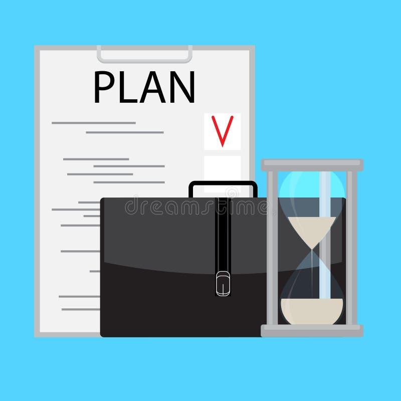 Negocio de planificación y de manejo del tiempo libre illustration
