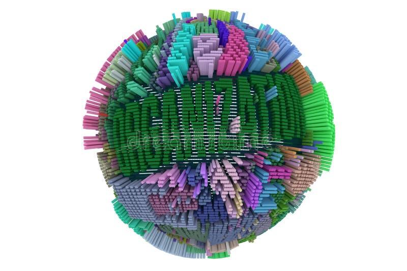 Negocio decorativo, de los ejemplos o finanzas, structu geométrico ilustración del vector