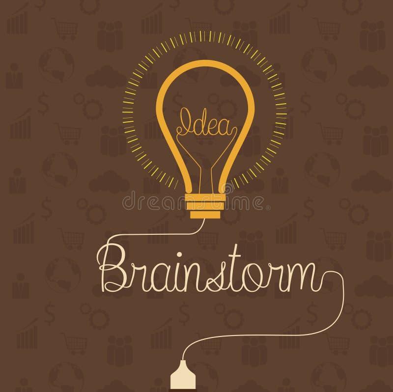 Negocio del concepto del intercambio de ideas e idea creativos de la educación ilustración del vector
