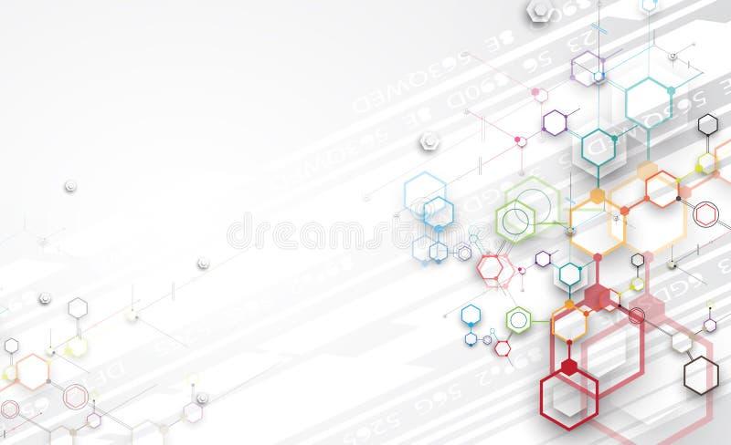 Negocio del fondo de la tecnología y dirección abstractos del desarrollo stock de ilustración