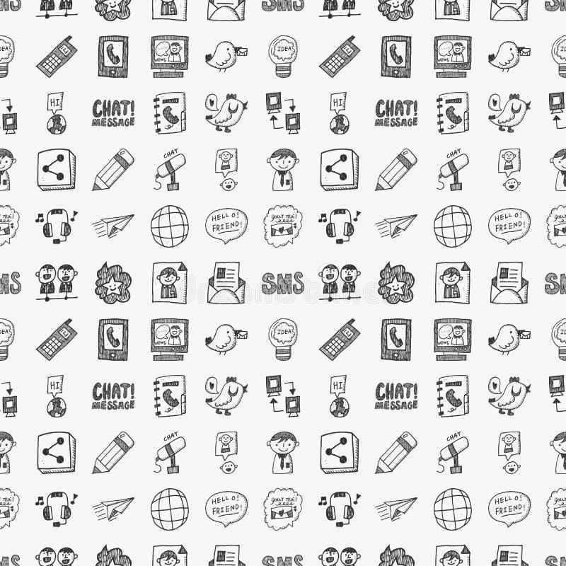 Download Negocio Del Garabato Inconsútil Ilustración del Vector - Ilustración de doodle, negocios: 42432224