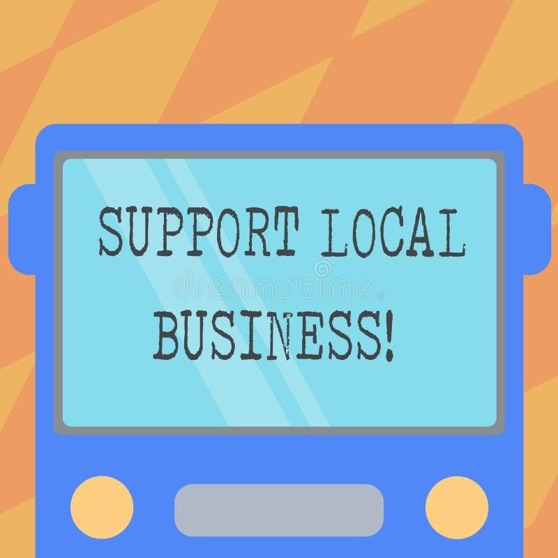 Negocio del Local de la ayuda de la demostración de la muestra del texto Compras o compra en las tiendas locales o mercado concep stock de ilustración