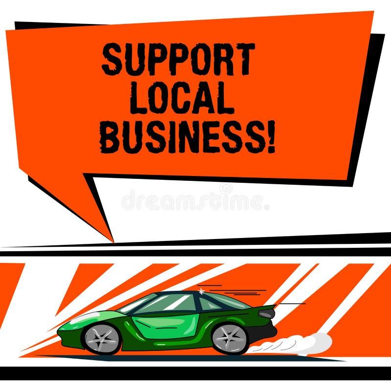 Negocio del Local de la ayuda del texto de la escritura de la palabra Concepto del negocio para las compras o la compra en las ti libre illustration