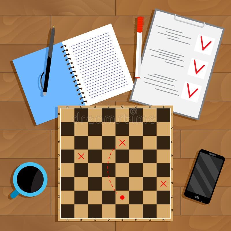 Negocio del planeamiento y de la estrategia libre illustration