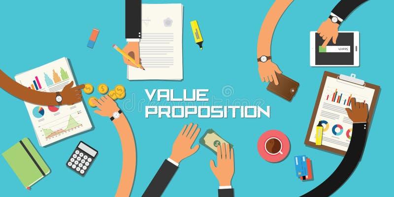 Negocio del trabajo del equipo del concepto del asunto del valor libre illustration
