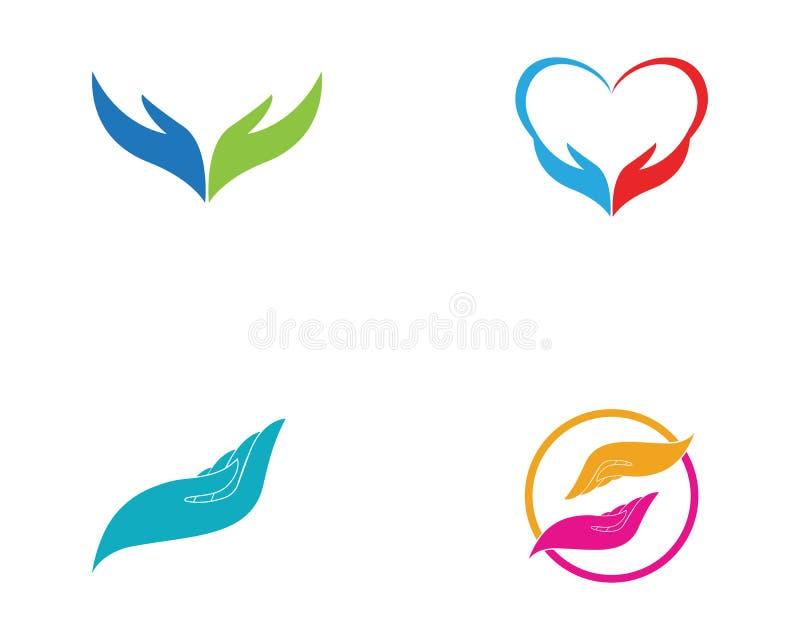 Negocio del vector de Logo Template del cuidado de la mano libre illustration
