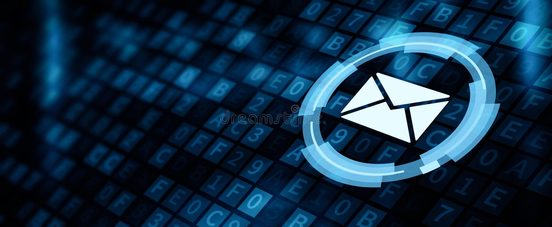 Negocio en línea de la charla de la comunicación del correo del correo electrónico del mensaje ilustración del vector
