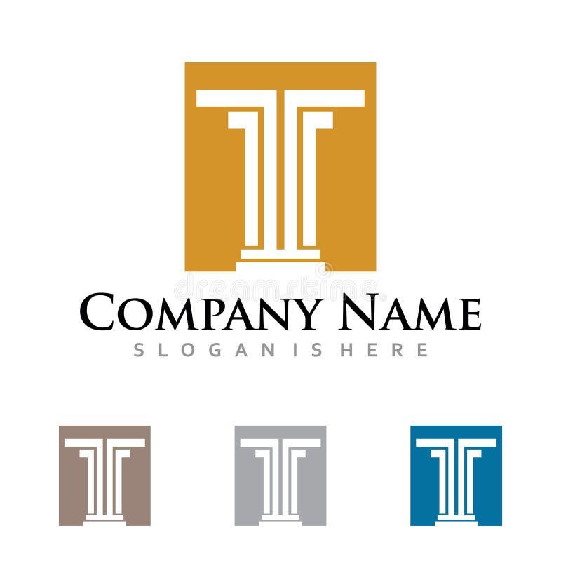 Negocio fuerte simple Logo Symbol del pilar de T libre illustration
