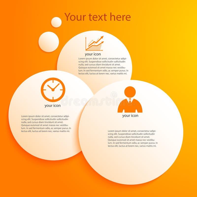 Negocio guide06 de la presentación de la plantilla del elemento del diseño libre illustration