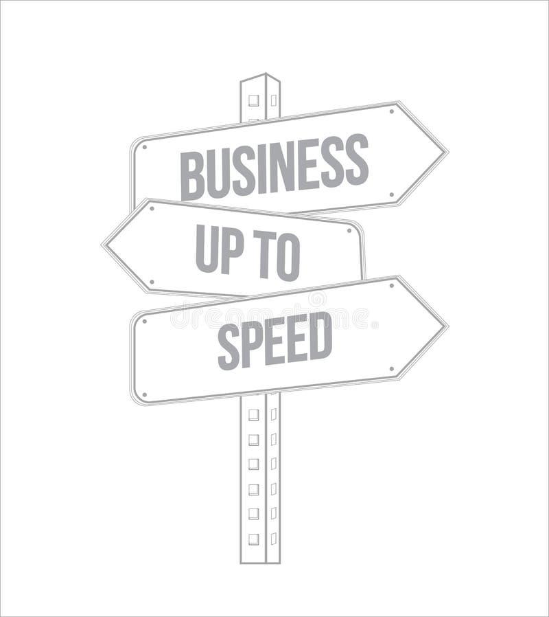 Negocio hasta la línea múltiple placa de calle del destino de la velocidad stock de ilustración