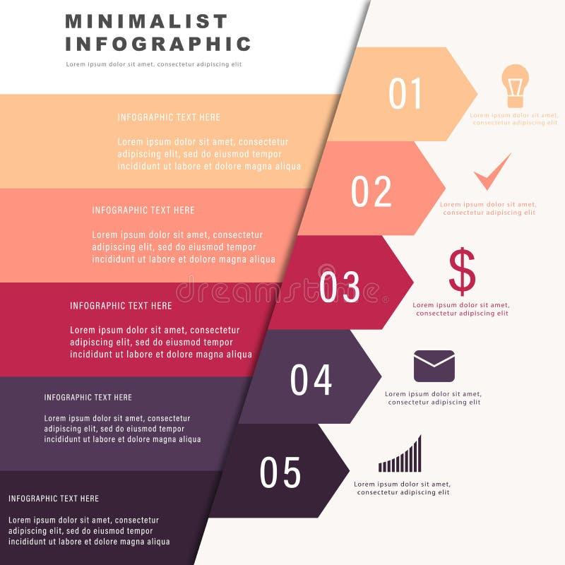 Negocio infographic con el icono stock de ilustración