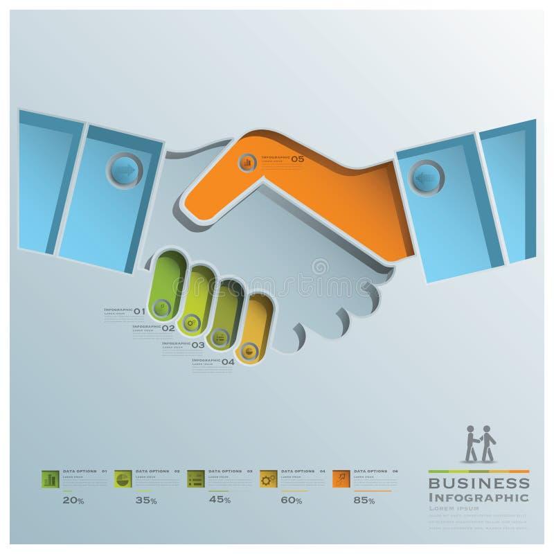 Negocio Infographic de la sacudida de la mano ilustración del vector