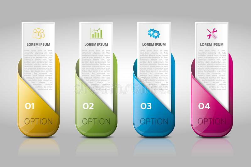 Negocio infographic, flujo de trabajo, investigación, cronología, plantilla del negocio libre illustration