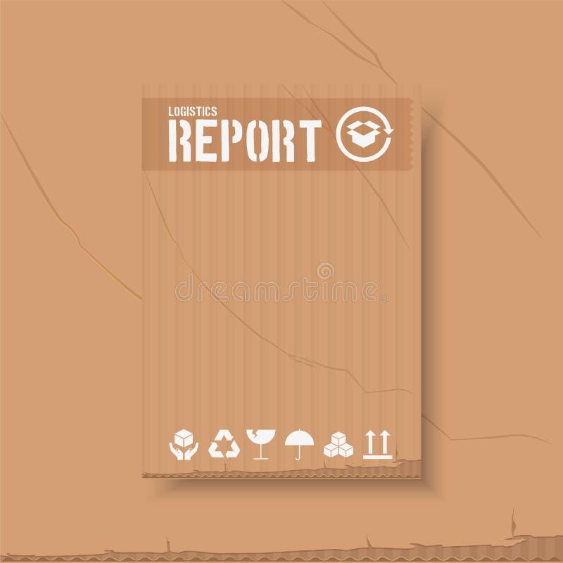 Negocio logístico del transporte emplates para el folleto de los aviadores Estilo del extracto de la cubierta del informe anual e stock de ilustración