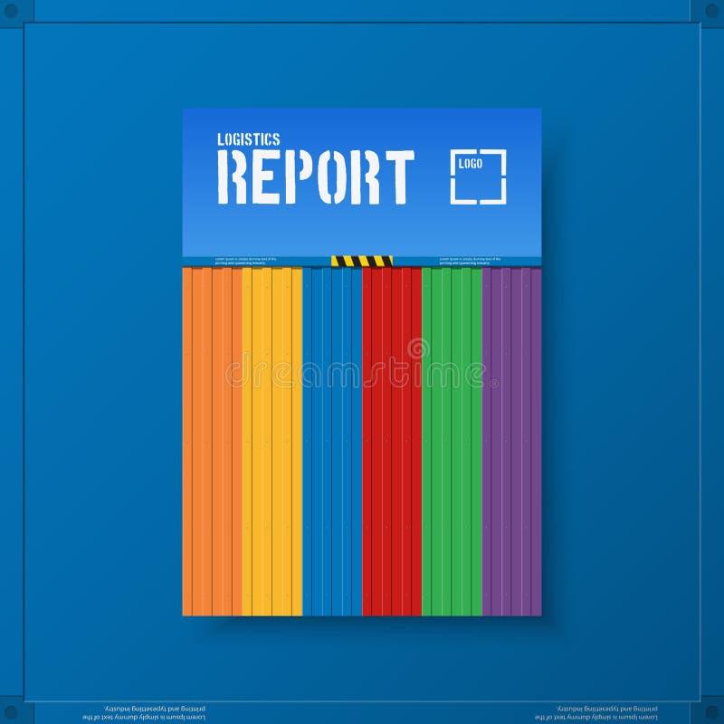 Negocio logístico del transporte Plantillas para el folleto de los aviadores Estilo del extracto de la cubierta del informe anual ilustración del vector