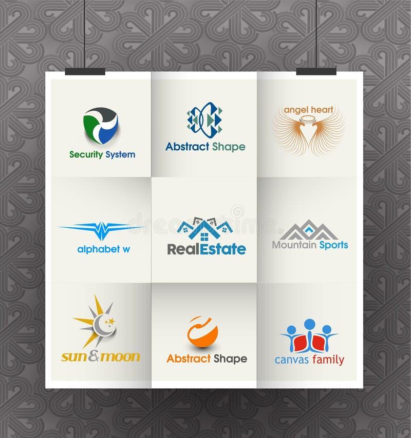Negocio Logo Design Set ilustración del vector