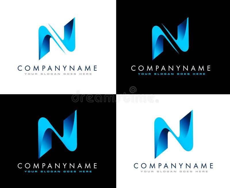Negocio Logo Letter N ilustración del vector