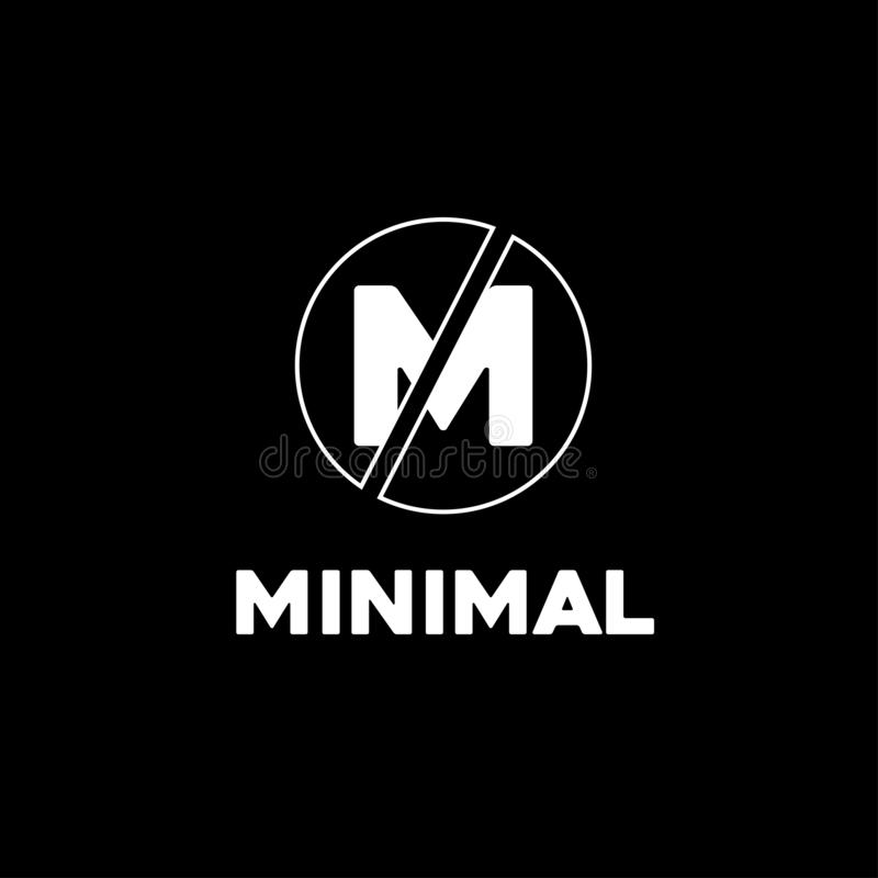 Negocio mínimo del círculo del diseño del logotipo, campaña, compañía de la bandera stock de ilustración