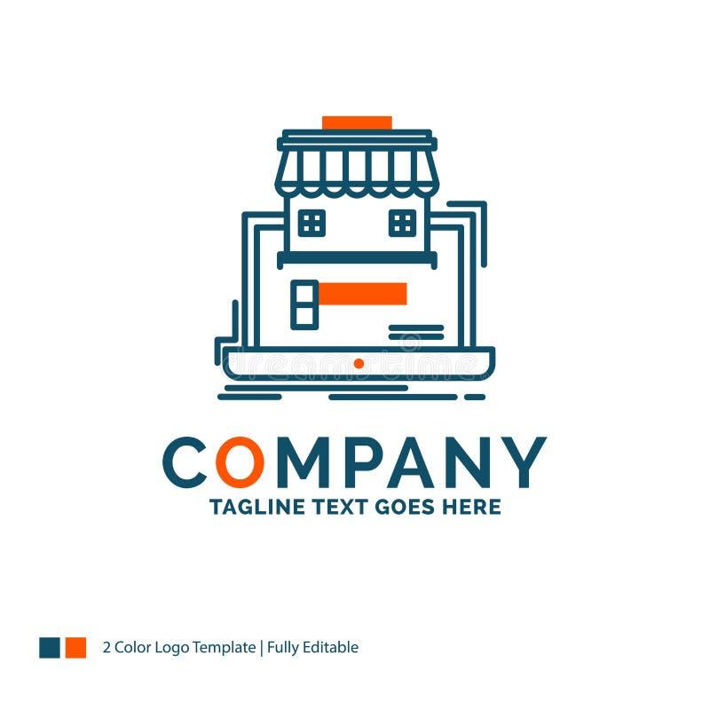 negocio, mercado, organización, datos, mercado en línea Logo De ilustración del vector