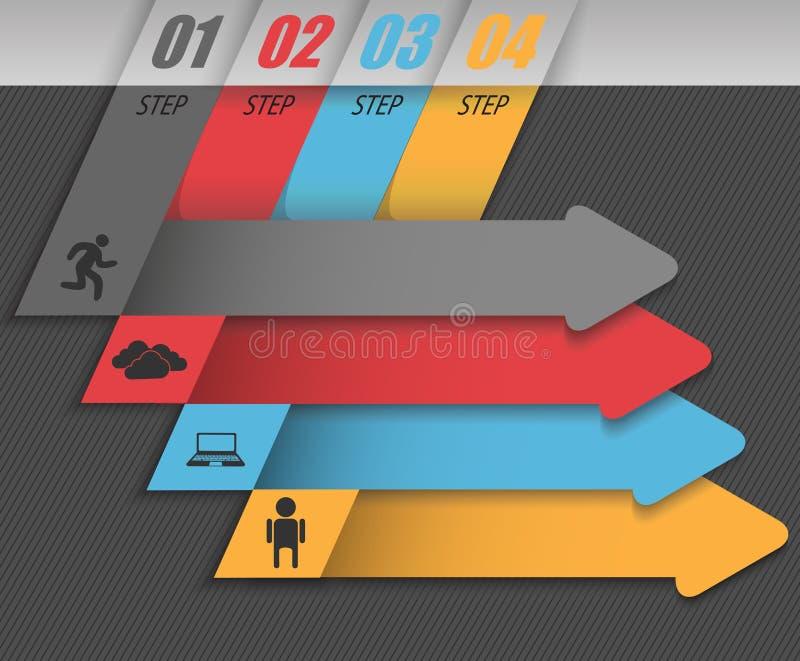 Negocio moderno infographic, sistema de flechas abstractas libre illustration