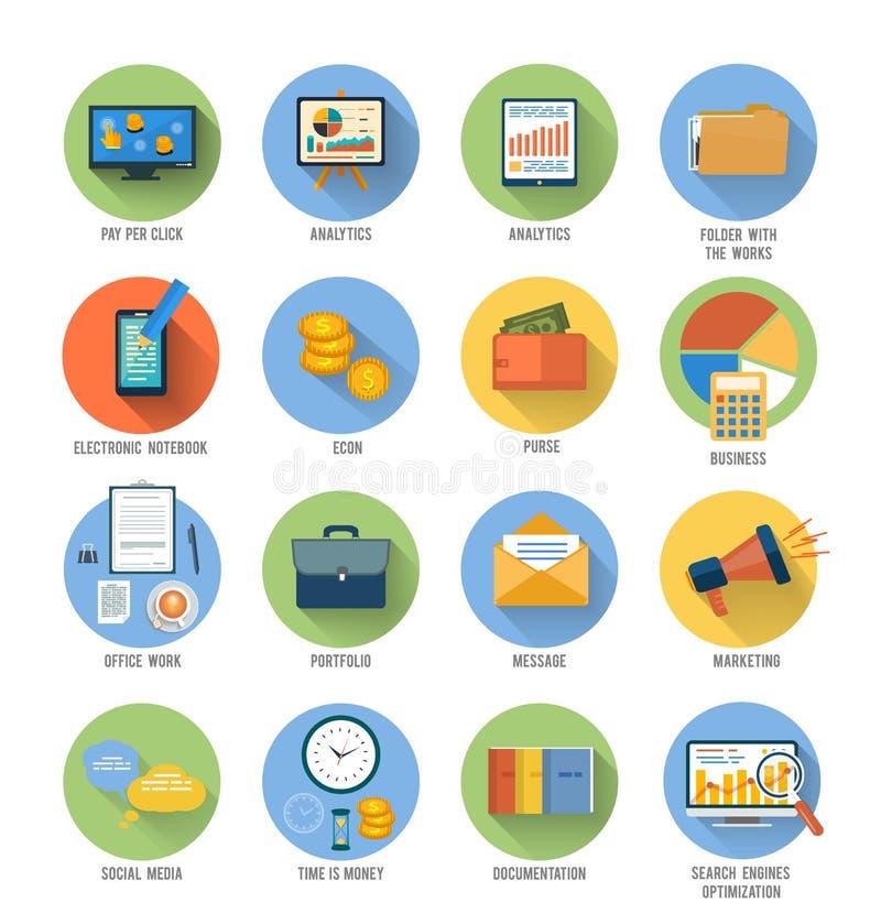 Download Negocio, Oficina E Iconos De Los Artículos Del Márketing Ilustración del Vector - Ilustración de idea, internet: 42433175