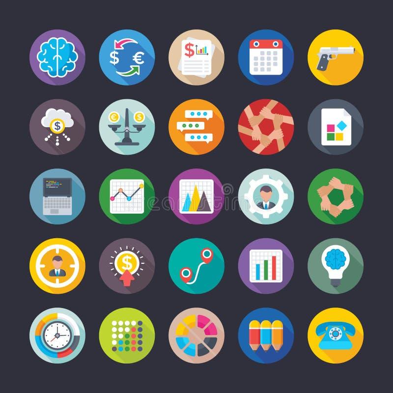 Negocio, oficina, trabajo del equipo, gestión, crecimiento, iconos 15 del vector de las finanzas stock de ilustración