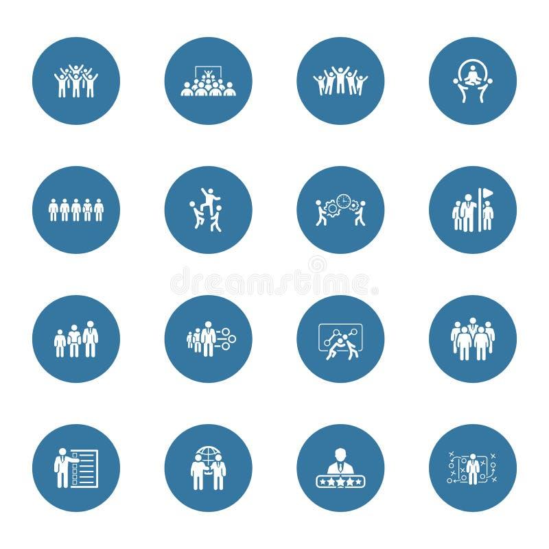 Negocio plano Team Icons Set del dise?o ilustración del vector