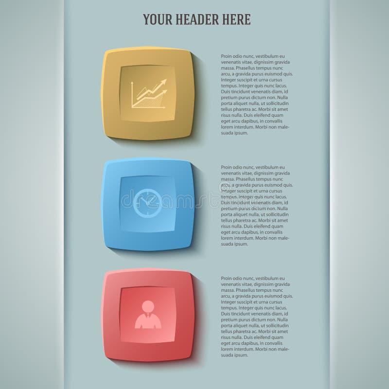 Negocio report33 de la presentación de la plantilla del elemento del diseño stock de ilustración