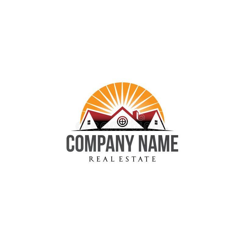 Negocio residencial y de la compañía inmobiliaria del logotipo libre illustration