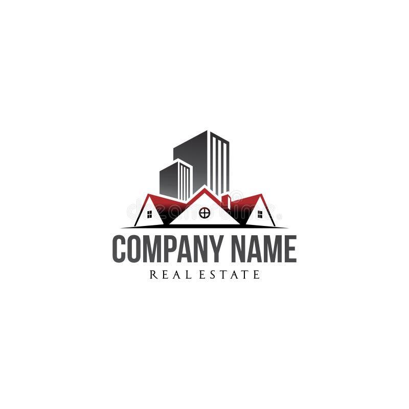 Negocio residencial y de la compañía inmobiliaria del logotipo ilustración del vector