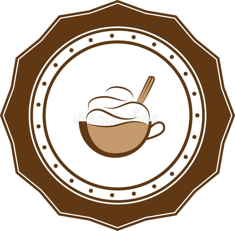 Negocio retro del logotipo del vintage del café imagen de archivo