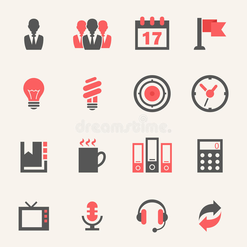 Negocio. Sistema del icono ilustración del vector