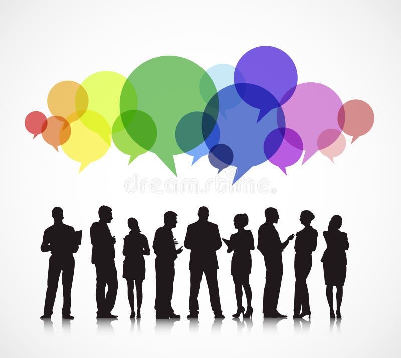 Negocio social que recolecta concepto de charla libre illustration