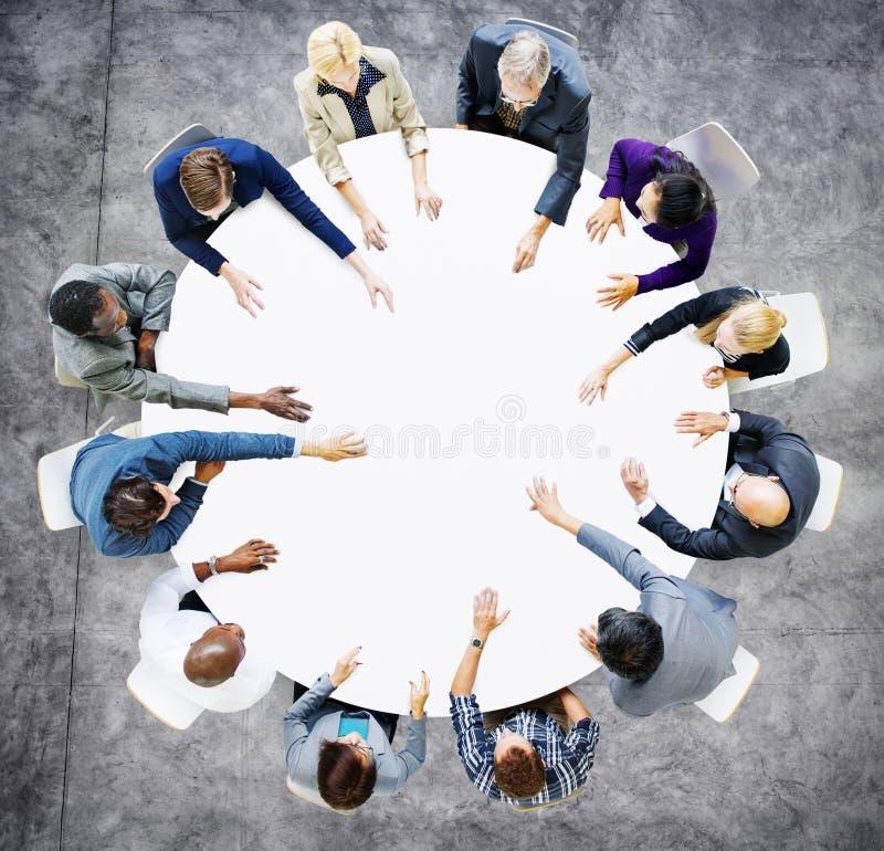 Negocio Team Discussion Meeting Analysing Concept fotografía de archivo