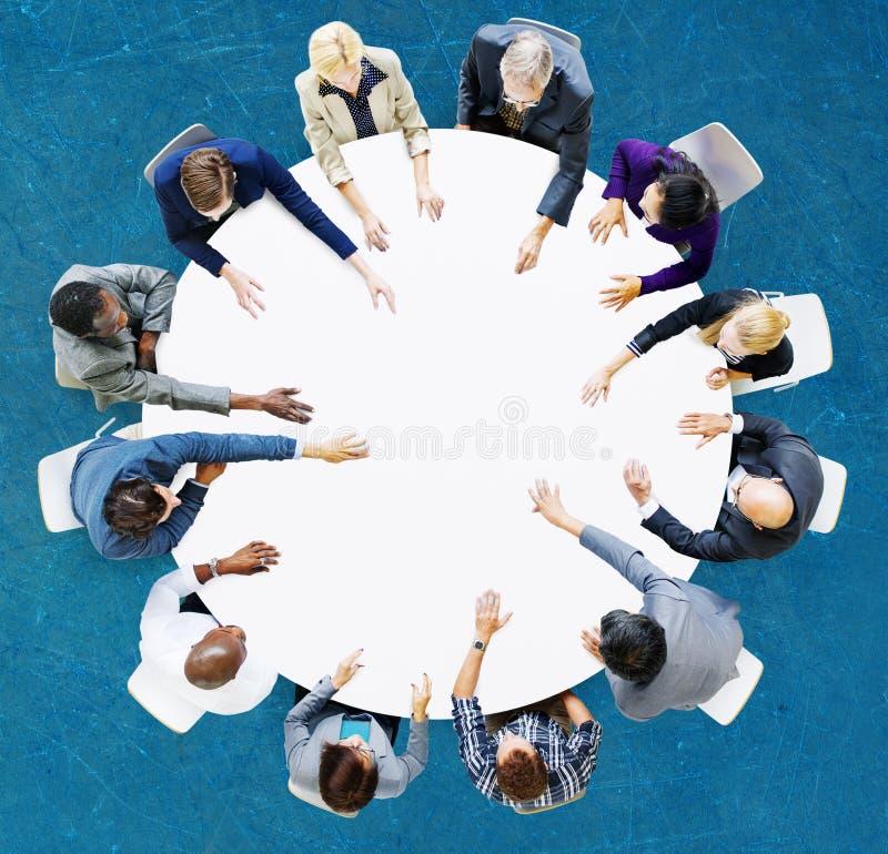 Negocio Team Discussion Meeting Analysing Concept fotografía de archivo libre de regalías
