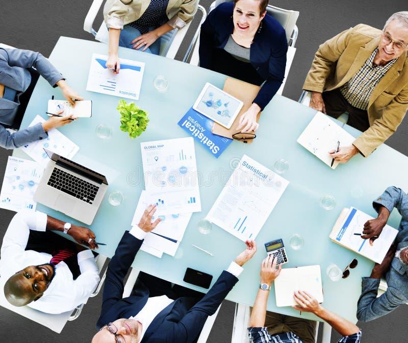 Negocio Team Discussion Meeting Analysing Concept imagen de archivo