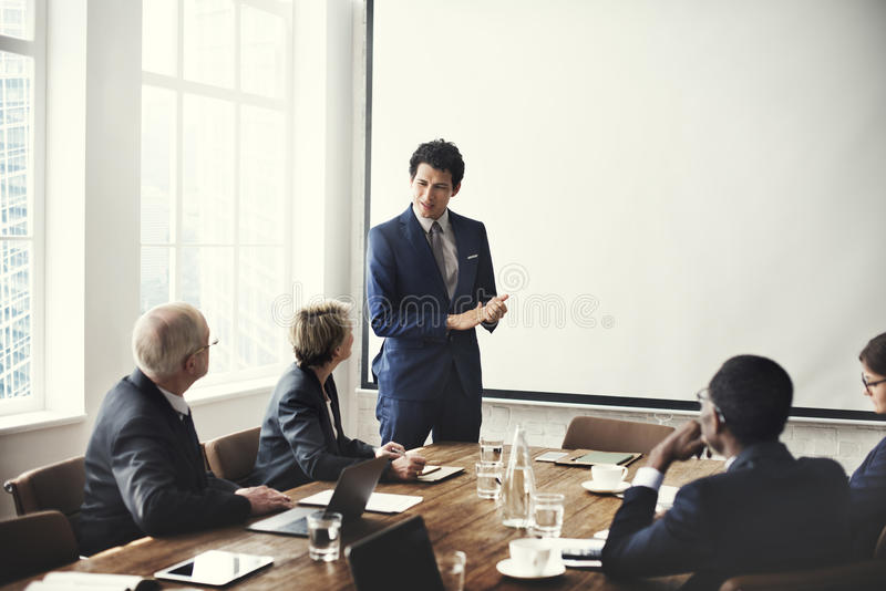 Negocio Team Meeting Working Presentation Concept fotografía de archivo libre de regalías