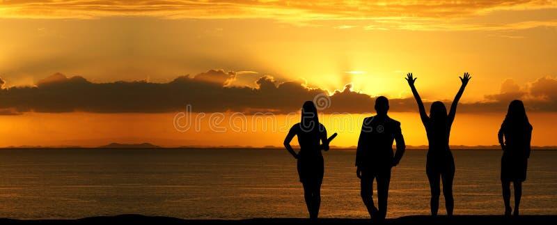 Negocio Team Sunset imagen de archivo