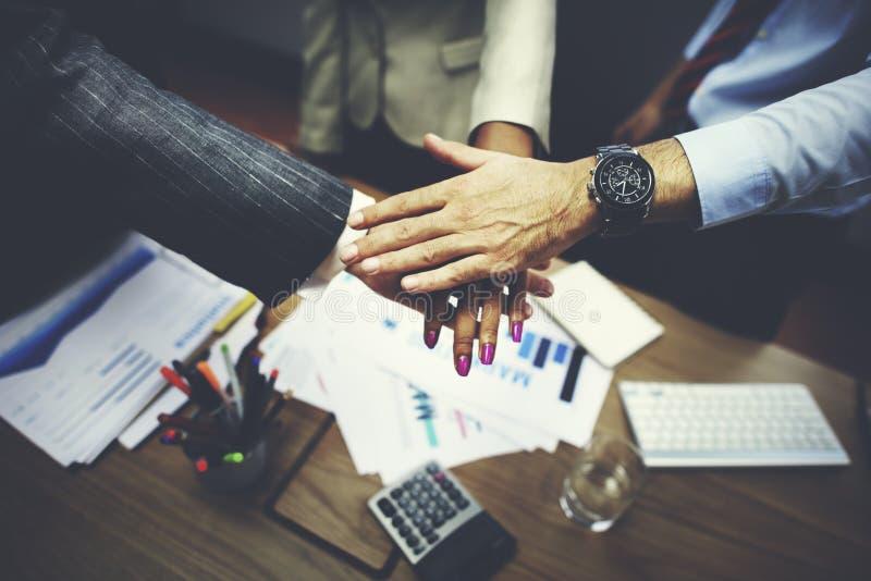 Negocio Team Teamwork Partnership Together Concept fotografía de archivo