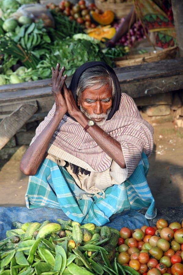 Negocio tribal de los aldeanos para los vehículos Sonakhali, la India fotografía de archivo libre de regalías