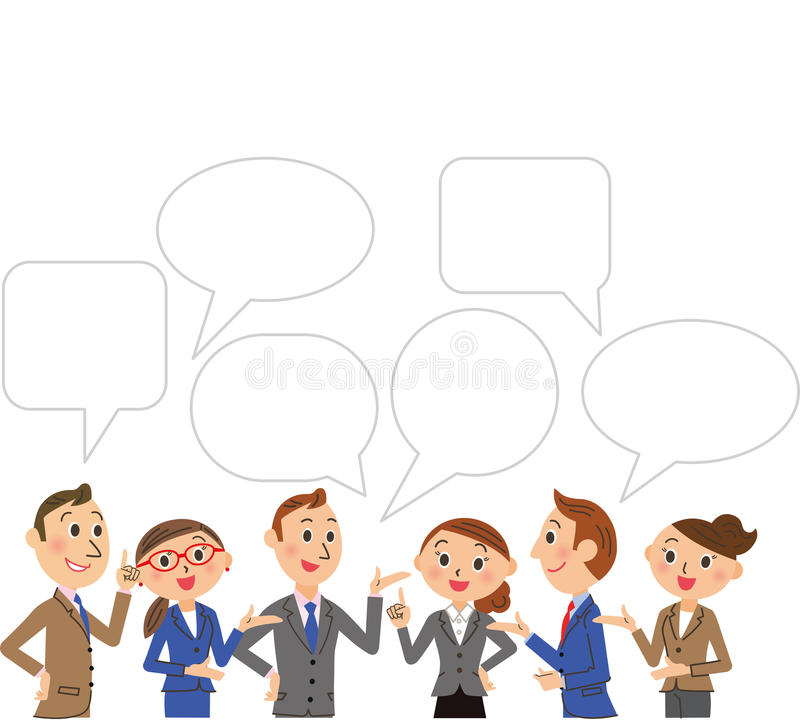 Negocio y conversación stock de ilustración
